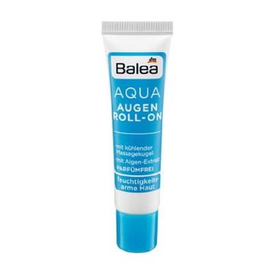德国balea芭乐雅 AQUA水凝补水滋润保湿清爽舒缓眼部滚珠眼霜15ml